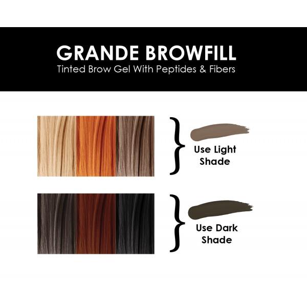 GrandeBrow Fill Tinted Brow Gel - Dark